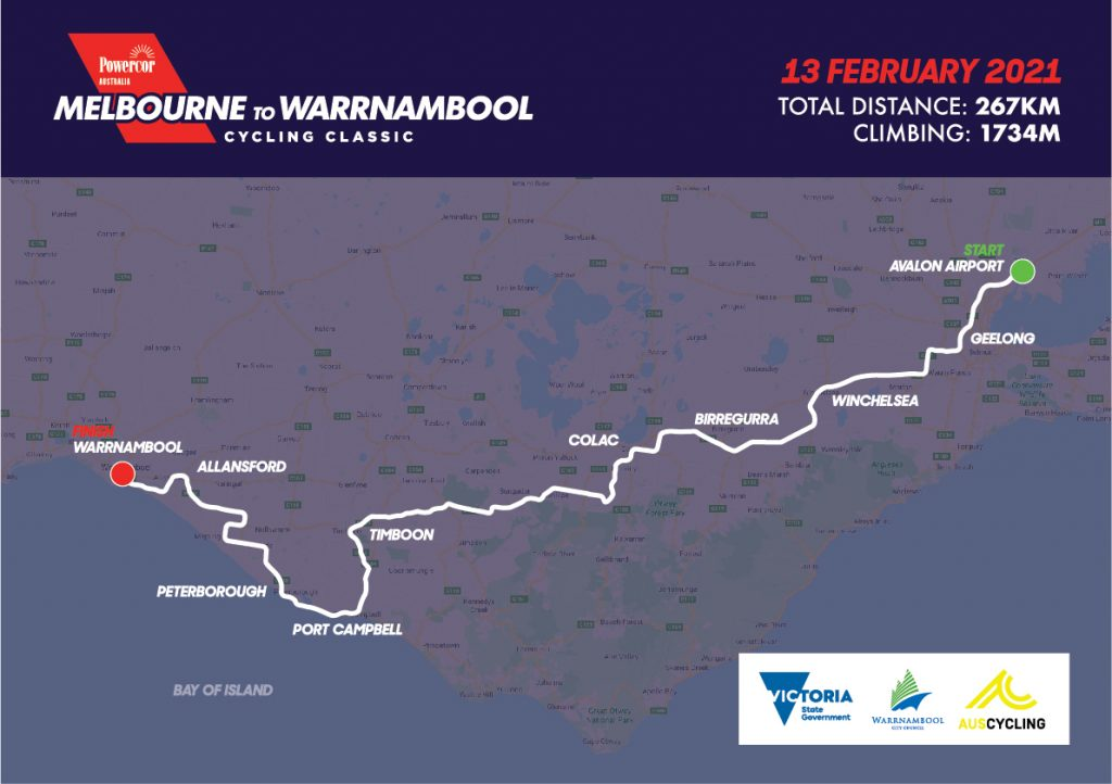 Melbourne to Warrnambool 2021 route