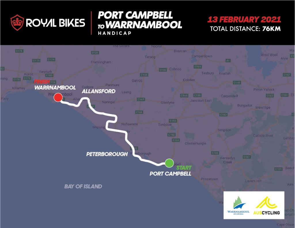 Port Campbell to Warrnambool Handicap 2021 course